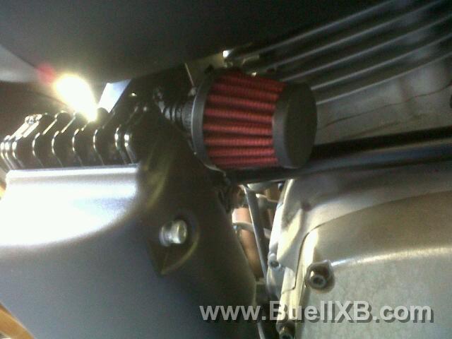 Crankcase breather mod Buell XB12r